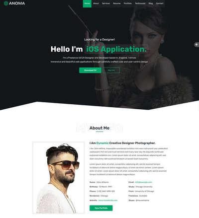 创意的个人介绍主页html模板