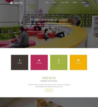 简单宽屏儿童教育培训网站模板html整站