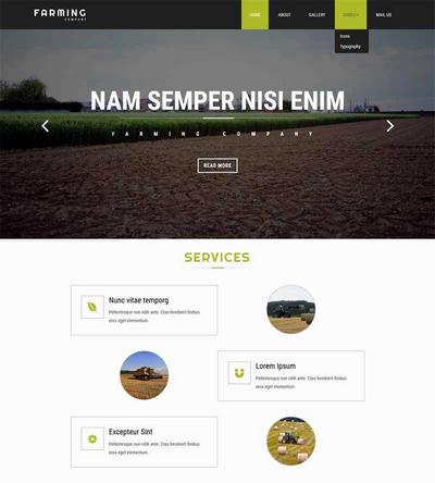 大气水稻种植农业生产网站模板下载