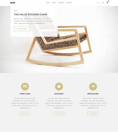 大气简洁生活家具公司展示html5模板
