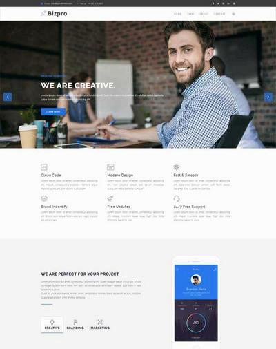 大气通用产品销售公司网站html模板