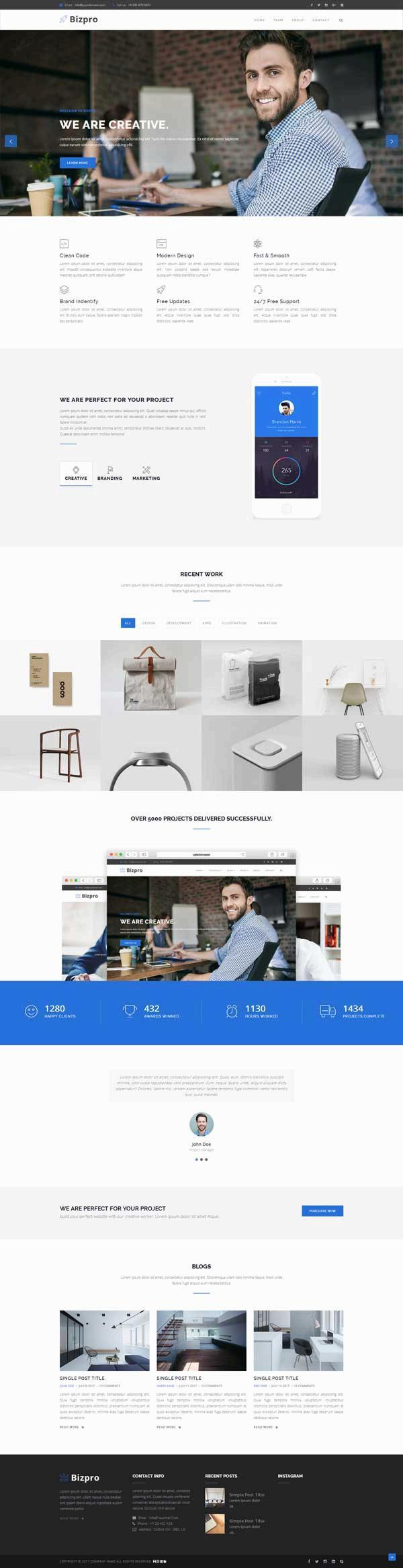 大气通用的产品销售公司网站html模板