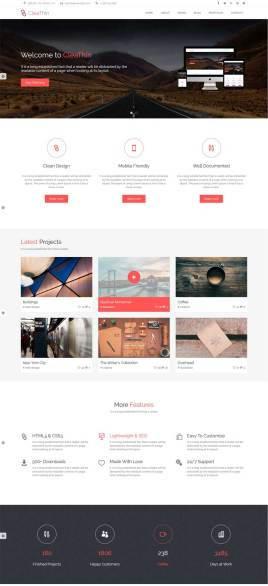大气的html5广告设计公司响应式通用网站模板