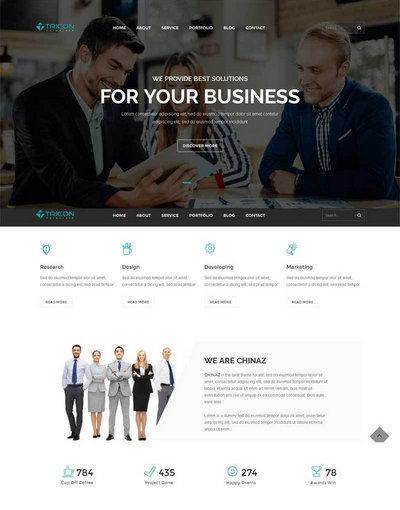 大气html5商务团队合作公司html网站模板