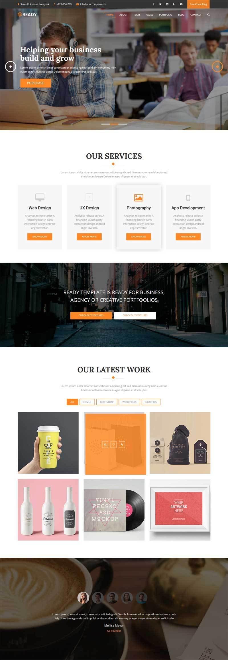 黑色大气的平面包装设计公司网站模板html整站