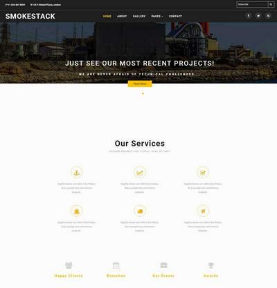 工业生产类企业网站html静态模板