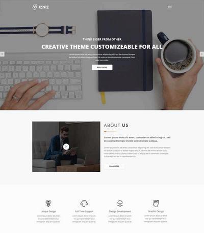 简洁产品设计公司html网站模板
