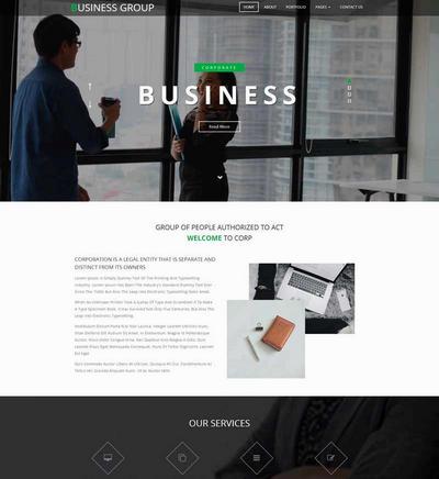 宽屏商业咨询公司html网站模板