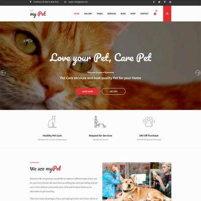 大气宠物兽医html网站模板