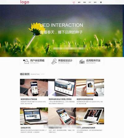 大气互联网科技公司响应式网站模板