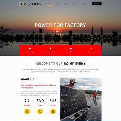 大气太阳能发电企业网站html模板