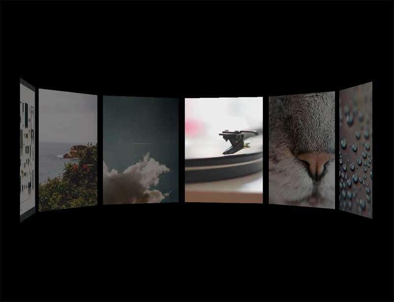 H5 3D传送带视差照片预览特效