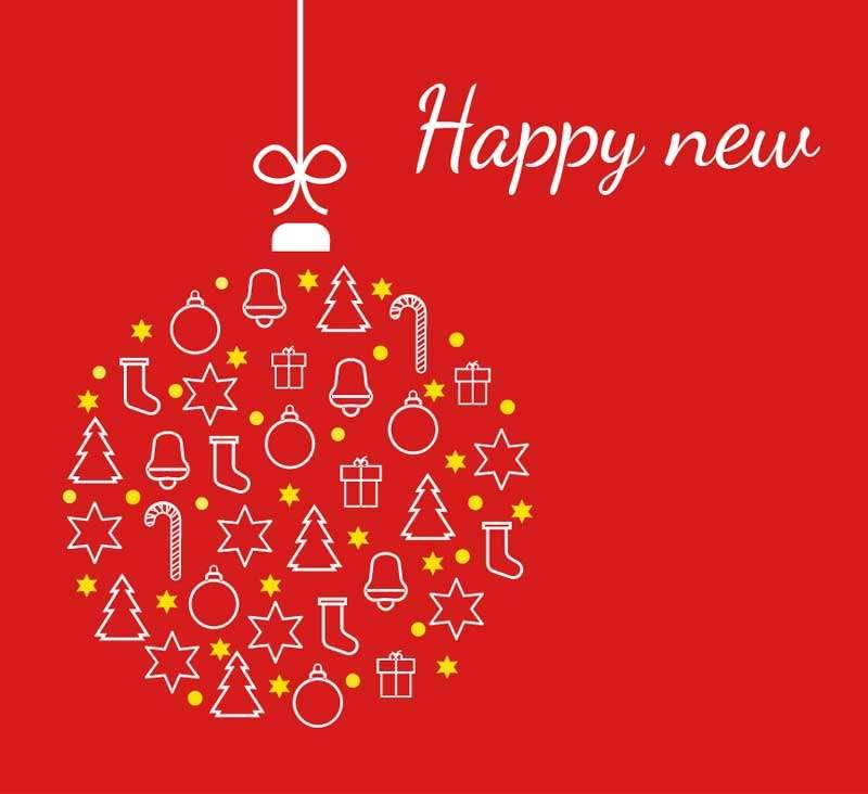 创意的圣诞新年快乐svg特效