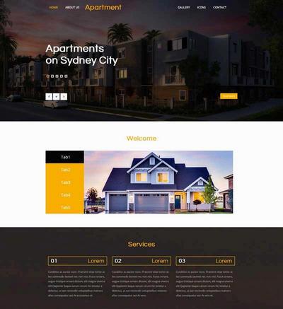 简单房屋建筑设计展示网站html模板