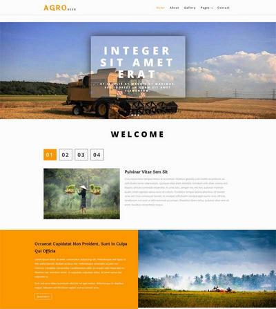 简单农业生产公司网站html模板