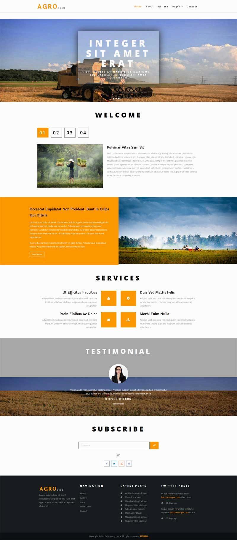 简单的农业生产公司网站html模板