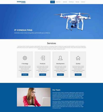 简单无人机公司网站html模板