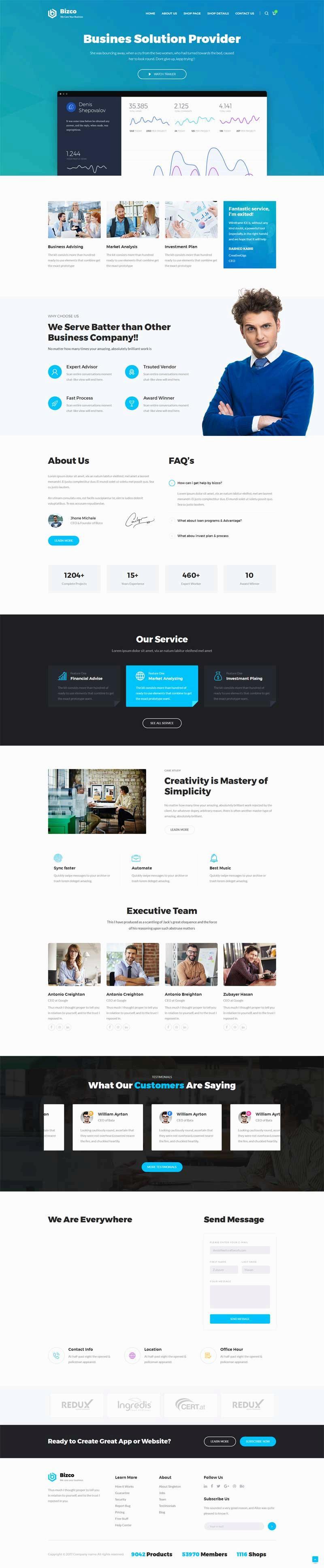 实用的金融商业研究公司网站模板
