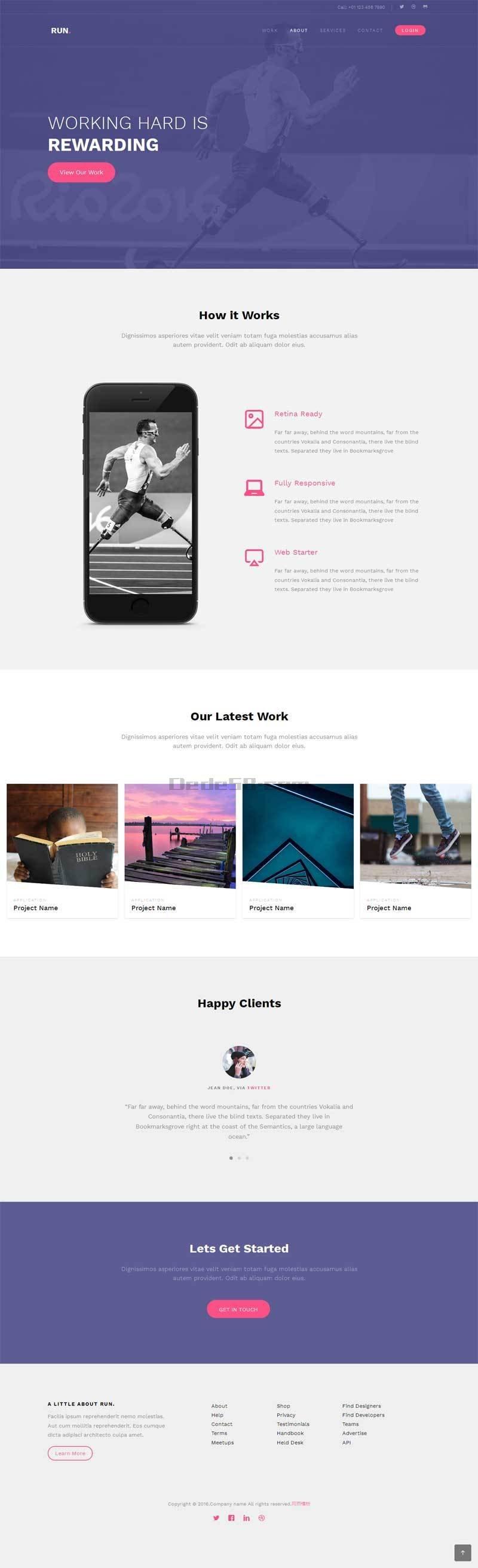 手机运动app软件公司html5网页模板下载