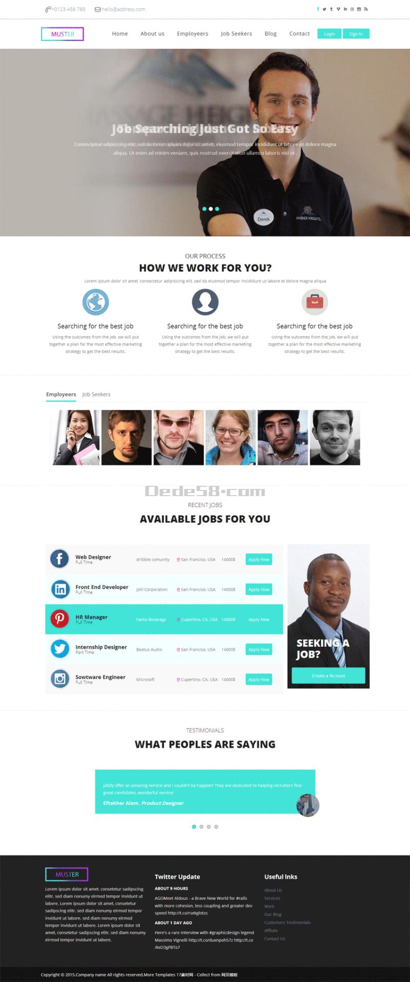 国外学校教育网站模板html整站
