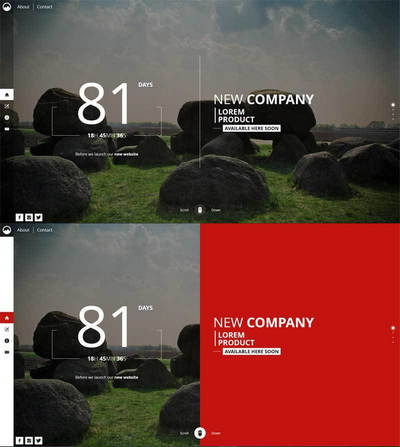 html5网站即将上线单页滚动模板