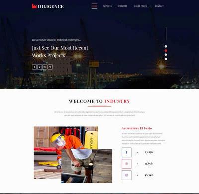 简单宽屏工业生产集团html网站模