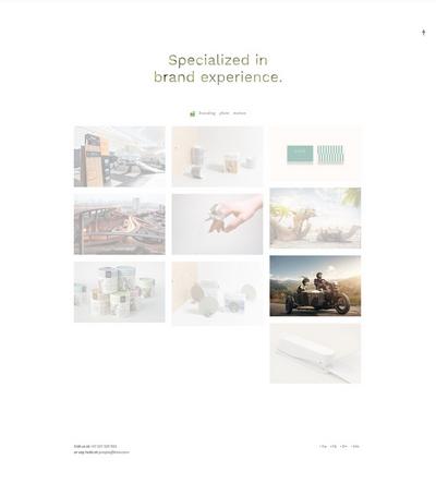 简洁创意设计公司作品展示html5