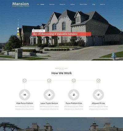 简洁大气房屋建筑公司网站html整站模板