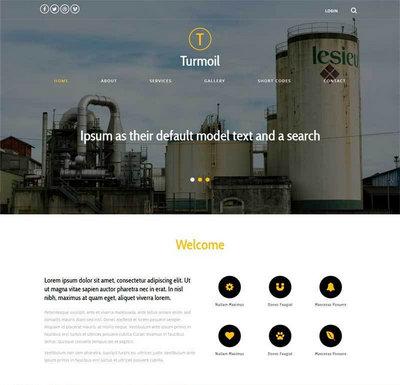 宽屏简洁工业化工生产公司html网