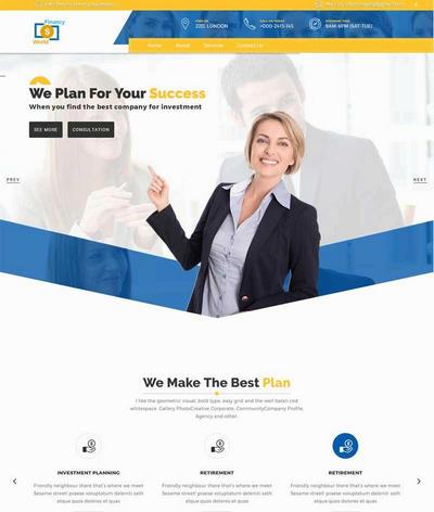 大气金融理财商务公司html5网站