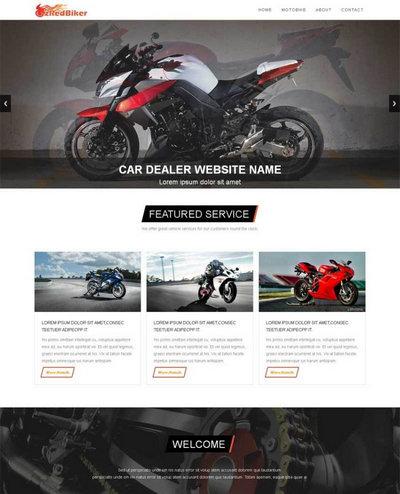 简洁国外摩托车公司网站模板html