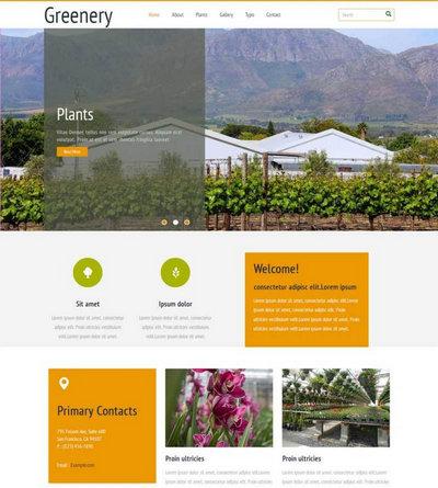 大气农业产品生产html5动画模板