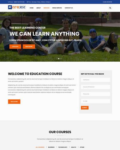 宽屏高等教育学校静态html网站模板