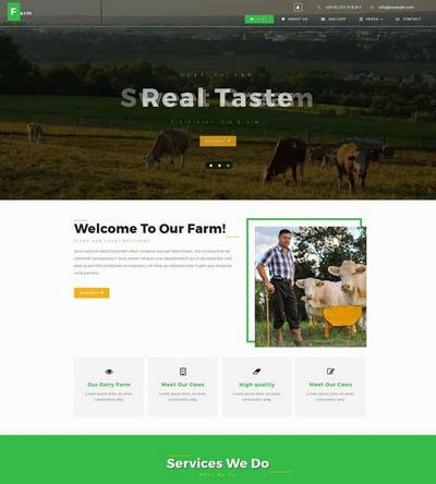 奶牛养殖场基地介绍html网站模板