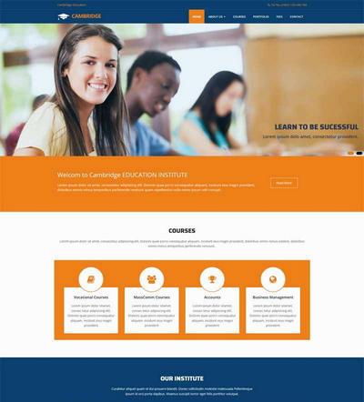 实用大学教育学校html网站模板下