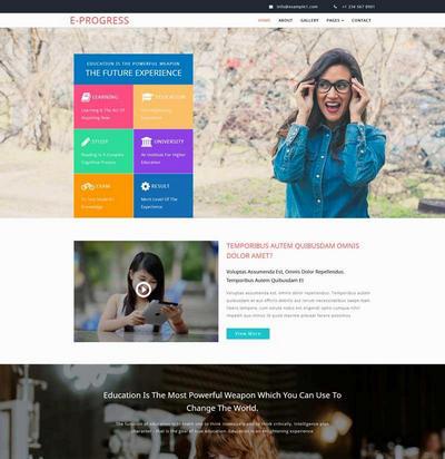 实用教育培训类html网页模板