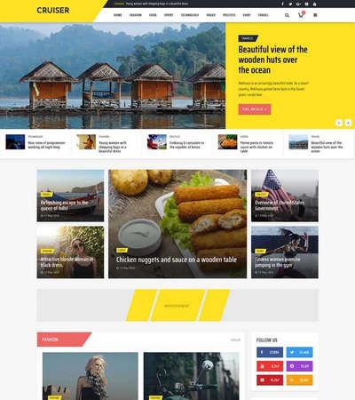 实用时尚资讯博客HTML静态网站模板