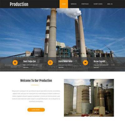 工业生产制造企业静态网站模板下载