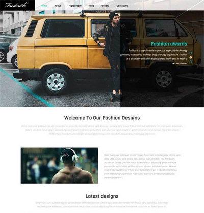 男装服饰企业网站静态html模板下载