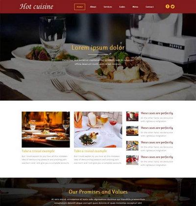 国外茶餐厅美食网站html5动画模板
