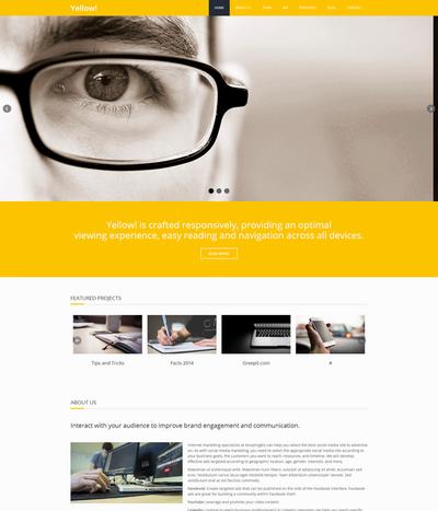 通用科技公司网站静态html模板