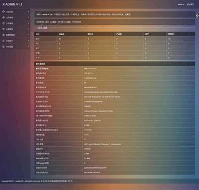 layui企业网站后台管理通用html模板