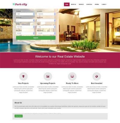 宽屏在线酒店预订html网站模板下载