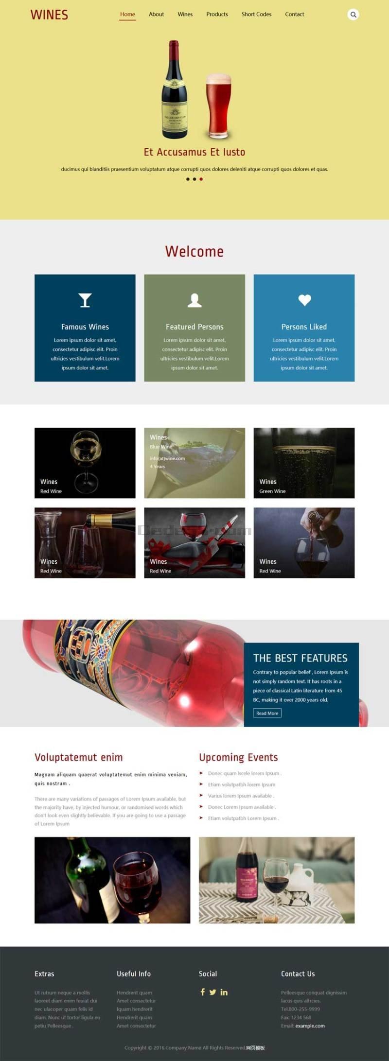 简单的啤酒公司网站静态模板下载