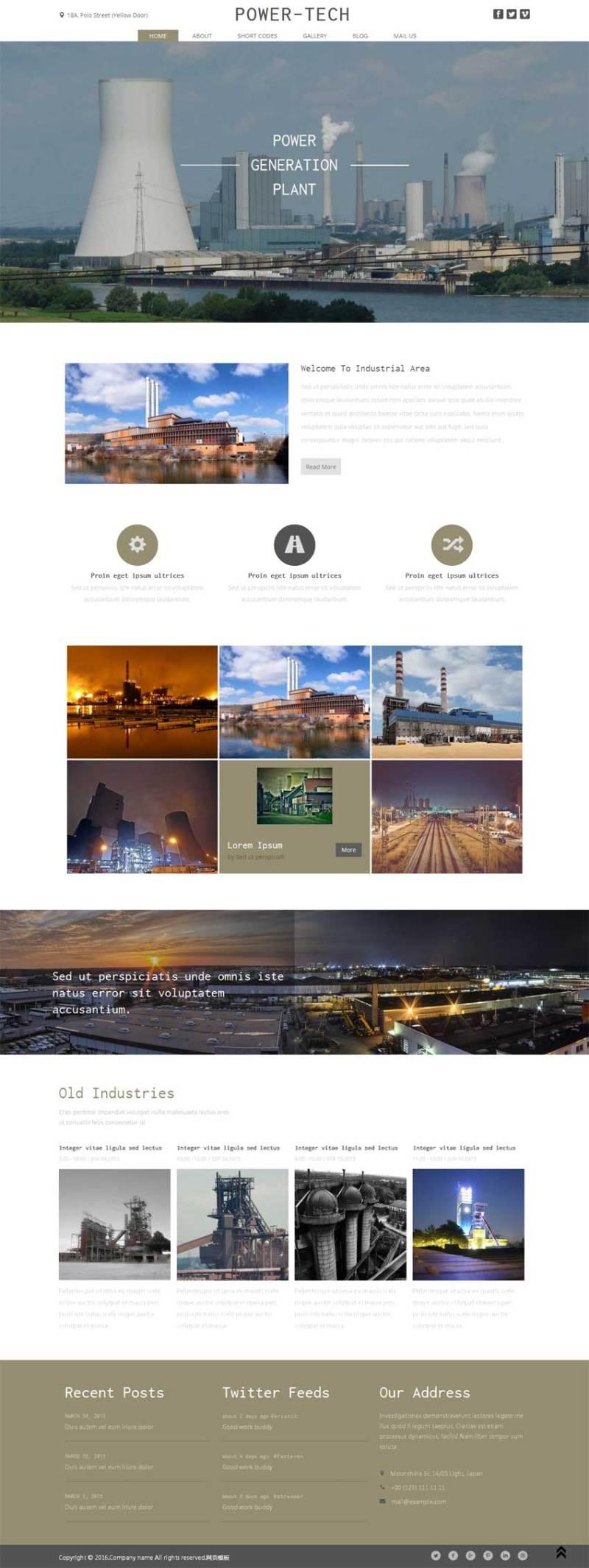 国外宽屏的化工生产企业网站模板html整站