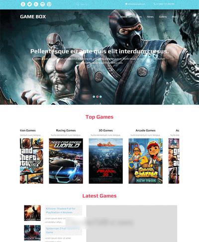 宽屏单机游戏网站介绍html静态模板下载