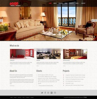 宽屏室内家具装饰公司网站html静态模板