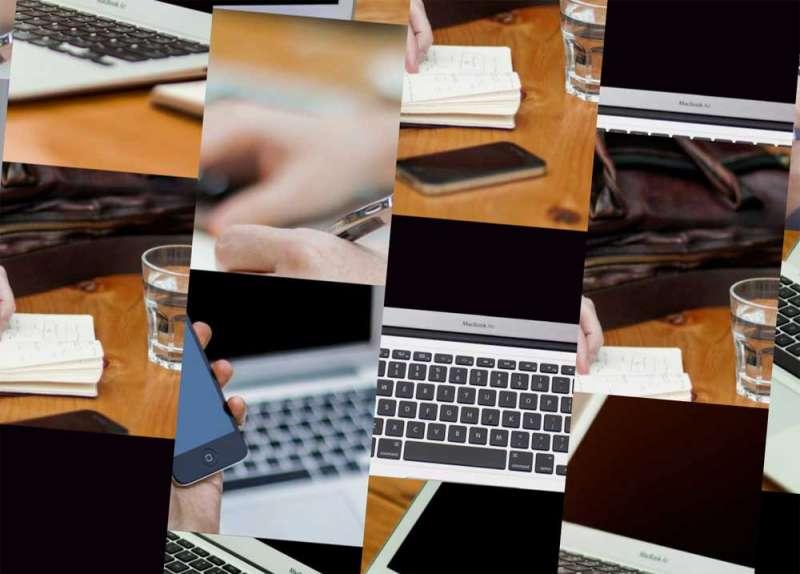 创意对角线网格图片动态特效