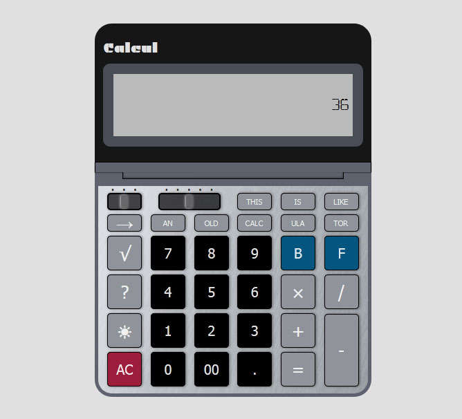 多功能键盘计算器实例