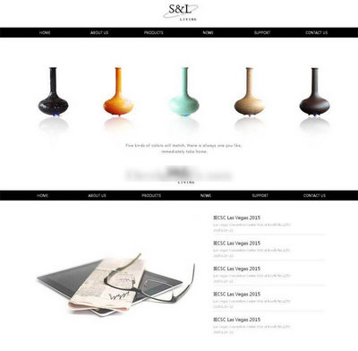 艺术品外贸公司通用html静态模板